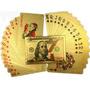 Baralho Dourado Ouro 24k Folheado Poker Truco Cartas