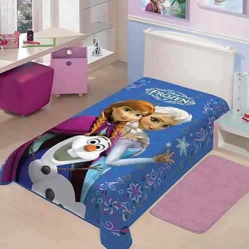Cobertor Jolitex Disney Infantil Solteiro Raschel Frozen Ii.