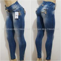 Calça Rhero Jeans Estilo Pit Bull Animal Print Modela Bumbum