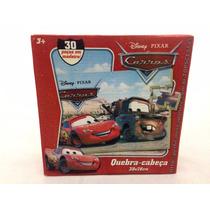 Quebra Cabeça Carros Madeira 30 Peças Mqueen Mate Disney