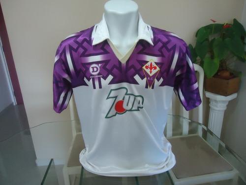 Camisa Fiorentina Dellerba 7up Anos 80   16 - ( 872 ) 5483c78539ea5