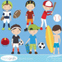 Kit Scrapbook Digital Esportes Imagens Clipart