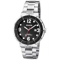 Relógio Masculino Magnum Analogico,pulseira De Aco