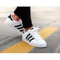 Promoção! Tênis Adidas Superstar Foundation Homem & Mulher