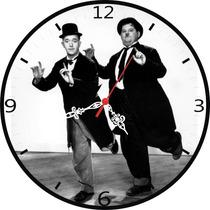 O Gordo E O Magro Relógio Decorativo Para Parede
