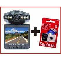 Camera Filmadora Veicular Dvr + Cartão Memoria Scandisk 16gb