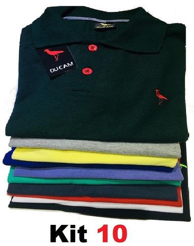Kit 10 Camiseta Polo Masculina  Frete Grátis  Atacado Revend. R  173.79 d761e6687a064