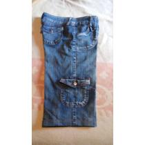 Bermuda Jeans, Feminina, Tam 44, Bolso Lateral