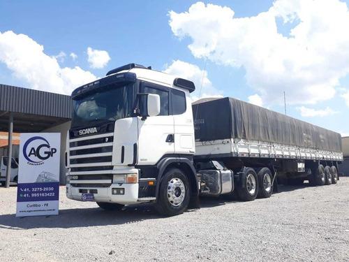 SCANIA R124 420 6X2 CARRETA GRANELEIRA 13.4M