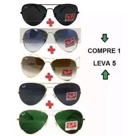 Óculos Sol Pague 1 Leve 5 Aviador Round Erik Frete Grátis!! ee14703c40