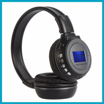 Fone S/ Fio Wireless Bluetooph Radio Fm Entrada Card Sd