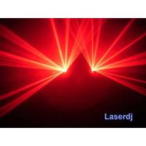Laser Vermelho Duplo 200+200mw - Iluminação Dj