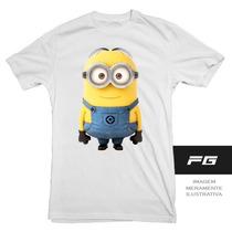 Camiseta Adulto Infantil Minion Engraçado
