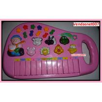 Piano Teclado Infantil Rosa Musical Sons Eletrônico Luz