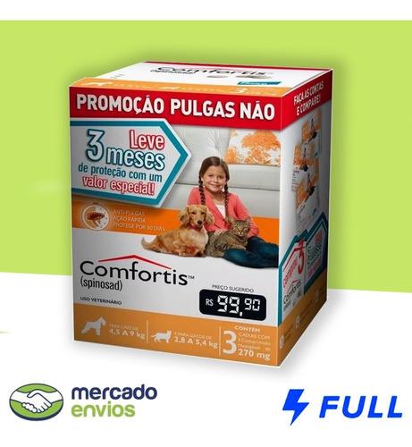 3 Antipulgas Comfortis Cães De 4,5 A 9 Kg E Gatos De 2,8kg