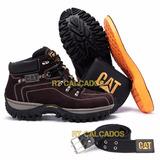 Kit Bota Adventure Caterpillar + Palmilha Gel Carteira Cinto