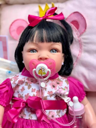 Bebe Reborn, Menina, Barata,promoçao Princesa Linda Cílios