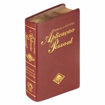 Bíblia De Estudo Aplicação Pessoal Média Vinho Luxo