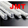 Calha Perfil De Aluminio P/ Barra De Led. Branco Leitoso