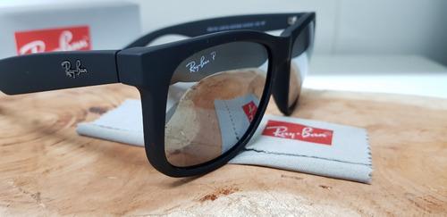 b3f962f5c0b49 Óculos De Sol Ray-ban Justin Rb4165 Preto Espelhado Clássico