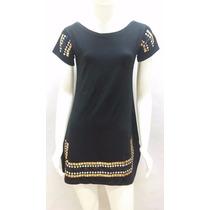Vestido Feminino Curto C/ Pedraria Strass, Bata Egipicia