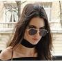Choker Gargantilha Larga 2,5 Cm Veludo Estilo Kendall Jenner