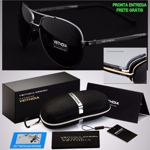 5e046227129 Oculos Aviador Original De Sol Polarizado Masculino Feminino