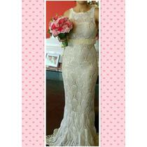Vestido Para Noiva Em Crochê - Feito À Mão