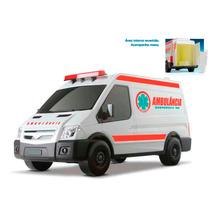 04 Super Van Carrinho Resgate Polícia Escolar Ambulância