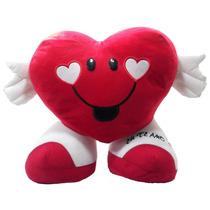 Almofada Coração Eu Te Amo Namorados 14 Cm Pelúcia Presente