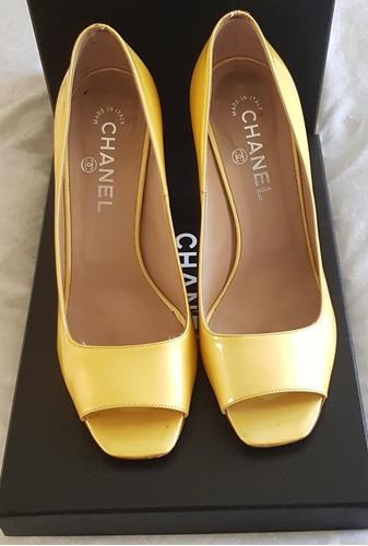 d62b137bf Sapato Peep Toe Chanel Original