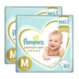 Kit Fralda Infantil Pampers Premium Care Com Dois Pacotes