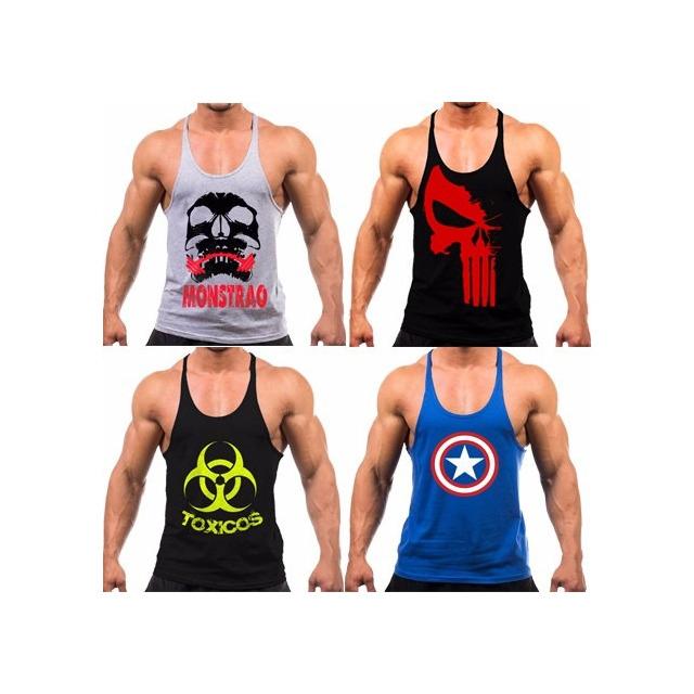 6c41bb1a36 7 Regatas Cavada Masculina Academia Musculação Fitness em ...