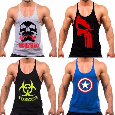 90e01151ed781 Kit 3 Regatas Cavada Masculina Academia Musculação Fitness