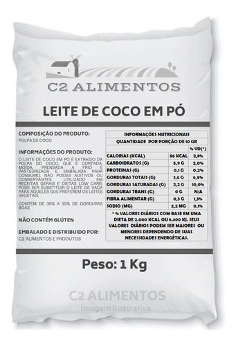 Leite De Coco Em Pó - 1kg - Produto Premium - Pronta Entrega