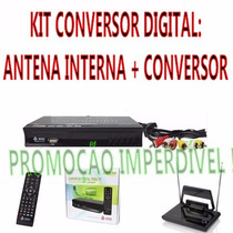 Kit Conversor Tv Digital Gravador H D M I + Antena Interna!!