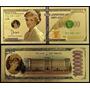 Usa Estados Unidos 1 Milhão Dolares Lady Di Ouro 24k * C O L