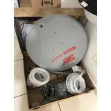 2 Antenas Ku 60cm+2 Lnb Duplo+ 2 Kit Cabo
