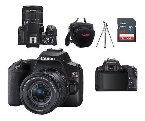 Canon Eos Sl3 Lente 18-55mm + Bolsa+tripé+64gb - Nota Fiscal