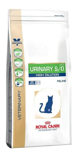 Ração Royal Canin Urinary S/o High Dilution Uhd 34 Veterinary Diet Feline Gato Adulto 1.5kg