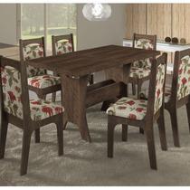 Conjunto Mesa Sonetto Veneza 1,50x0,80 + 6 Cadeiras Vivace