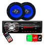 Kit Som Carro Radio Mp3 Bluetooth Usb + 2 Alto Falante 6 Pol Original