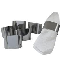 Porta Guardanapo/lenços Bella Inox Polido - 6 Peças