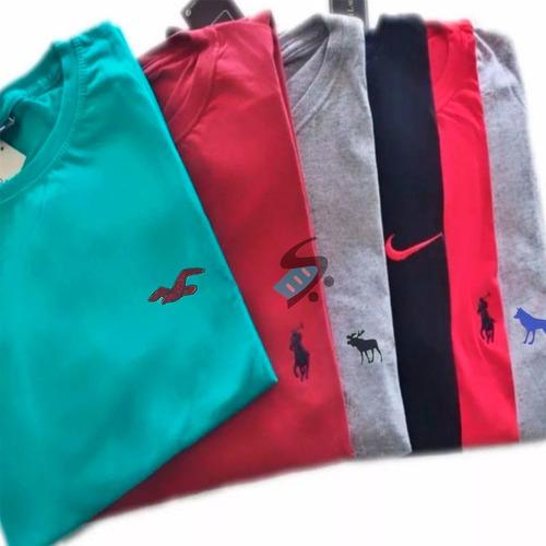 Camisetas Masculina Atacado Bordado1 Kit 10 Camisas Revenda 0f619643e5