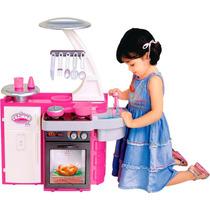 Brinquedo Cozinha Infantil Classic Completa Menina Cotiplas