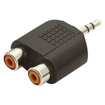 Plug Adaptador Y 2 Rca Femea X P2 Tv Dvd P/ Som Stereo Rca