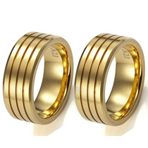 Alianças De Casamento Ouro 18k 20grs 6mm Anatômica C/ Frisos