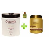 Selante Térmico Argan Oil 500g + Banho De Verniz + Brinde