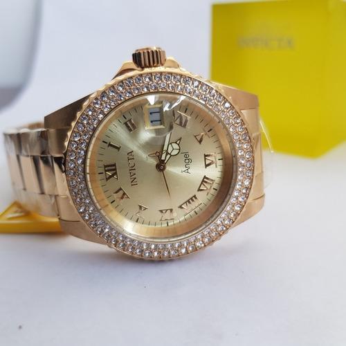 12e4ef1af1f Relógio Invicta Feminino Angel 19513 Original Dourado B Ouro