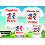 Kit 4 Camisetas Personalizada Aniversario Sonic E Mario